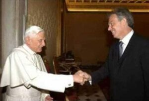 Tony Blair Tells The Pope You Are Wrong